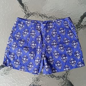Madewell Blue Printed Shorts with Pockets